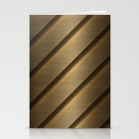 Copper Brass Metal Pipe Stationery Cards