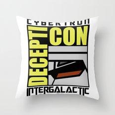Decepti-Con Throw Pillow