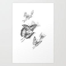 Fly Butterflies Fly Art Print