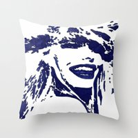 Blue II Throw Pillow