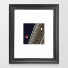 Blood Moon Over Education Building Framed Art Print