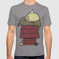 My Neighbor Peanut Mens Fitted Tee Tri-Grey SMALL
