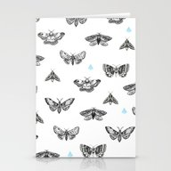 Stationery Cards featuring MANY MOTHS by JWRIGGS