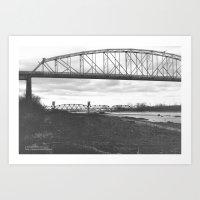 Boonville & RR Bridge  Art Print