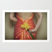 fleurs de printemps Art Print