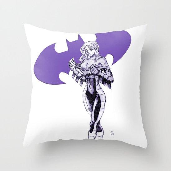 Batgirl Stephanie - Purple Throw Pillow