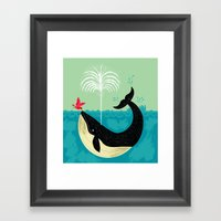 The Bird And The Whale Framed Art Print