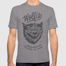 Gregarious Friend of Man Mens Fitted Tee Tri-Grey SMALL