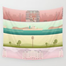 A Wes Anderson Collection Wall Tapestry