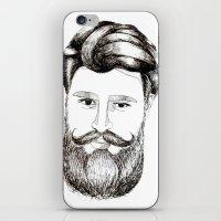 LOVELY BEARD iPhone & iPod Skin