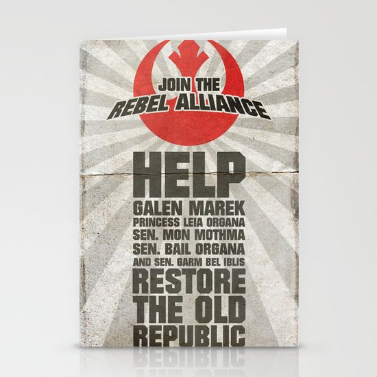Join the Rebel Alliance Stationery Card