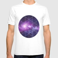 galaxy Mens Fitted Tee White SMALL