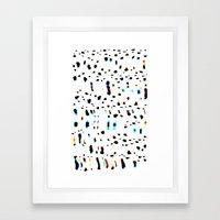 Digital Snow Leopard Framed Art Print