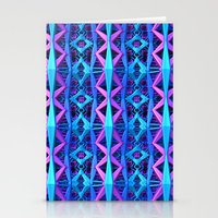 Blue/Purple Metallic Pattern Stationery Cards