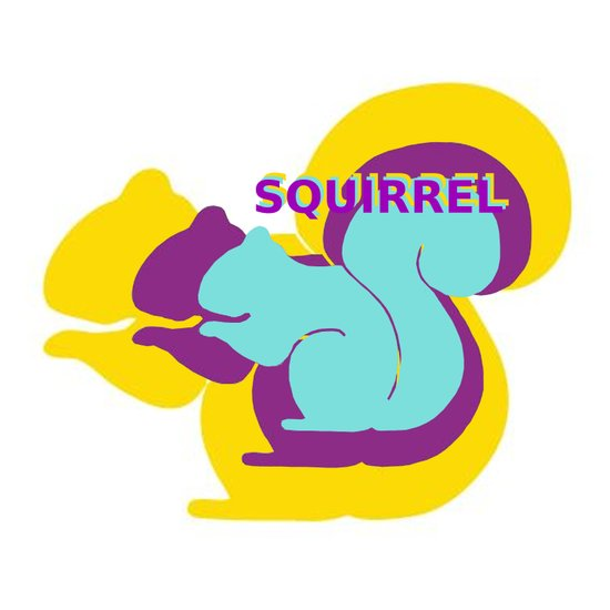 Layers of Squirrels Art Print