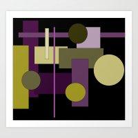 Abstract Geometric #1 Art Print