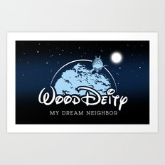 My Dream Neighbor (Totoro) Art Print