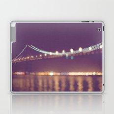 Let's go for a walk. San Francisco Bay bridge night photograph. Laptop & iPad Skin