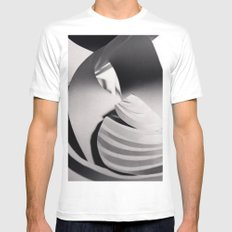 Paper Sculpture #6 Mens Fitted Tee White SMALL