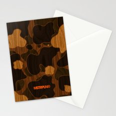 Modern Woodgrain Camouflage / Duck Print Stationery Cards
