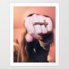 cross ring Art Print