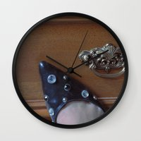Rhinestoned Right Shoe Wall Clock