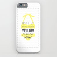 Yellow Polka Dot Bikini iPhone 6 Slim Case