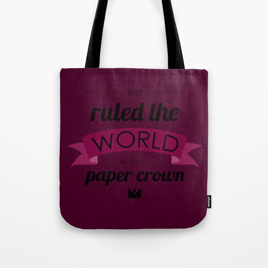 Paper Crown Tote Bag