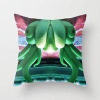 Sea Creature #3: Pool Party Throw Pillow