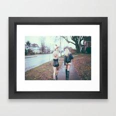 The Walk. Framed Art Print