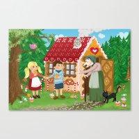 Hansel and Gretel fairy tale series Canvas Print