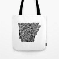 Typographic Arkansas Tote Bag
