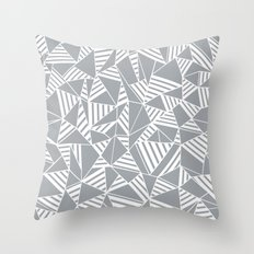 Abstract Lines B Grey Throw Pillow