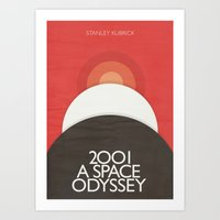 2001 A Space Odyssey - Stanley Kubrick Poster, Red Version Art Print