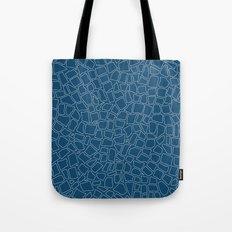 British Mosaic Blue Print Tote Bag