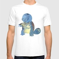 Squirtle Mens Fitted Tee White SMALL