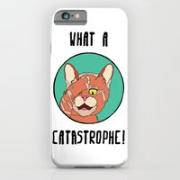 iPhone & iPod Case featuring Catastrophe Cat by Happy Jack