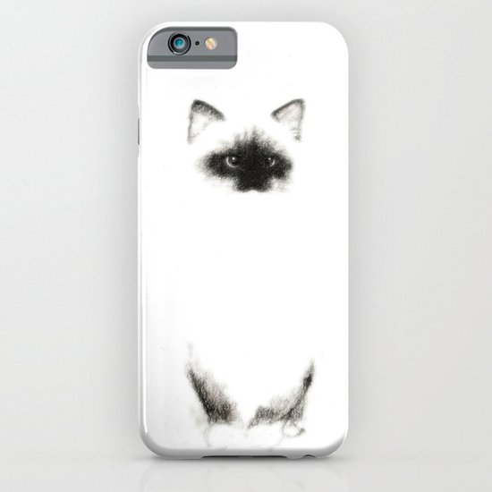 Angora Siamese Cat - Chat Siamois Angora iPhone & iPod Case