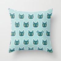 Cats & Mice Throw Pillow