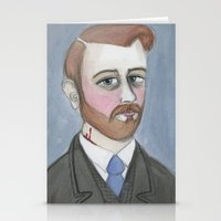 Bram Stoker and the Vampire's Kiss Stationery Cards