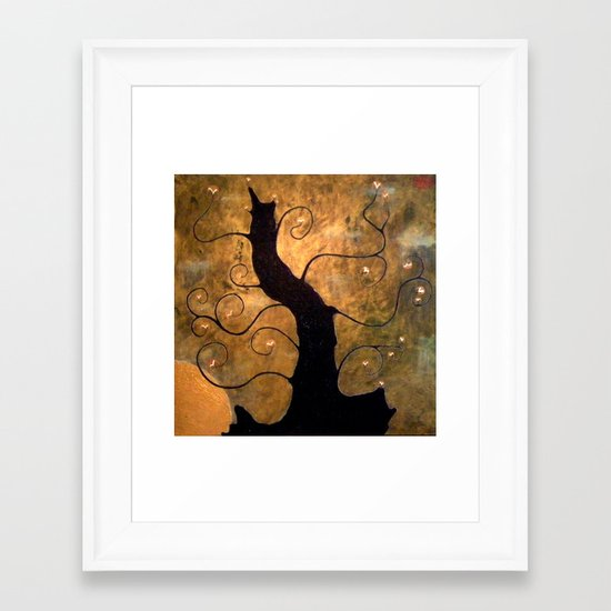 Within the Midnight Framed Art Print