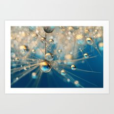 Dandy Drops in Royal Blue Art Print