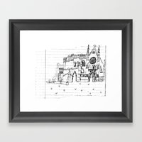 Childhood Drawings (Cathedral) Framed Art Print