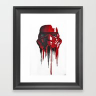 Procrastination In Red 1 Framed Art Print