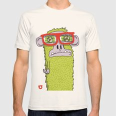 005_monkey glasses Mens Fitted Tee Natural SMALL