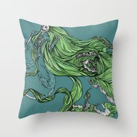 Death Of A Siren Throw Pillow