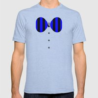 Shirt & Tie 2: Bow Ties are Cool Mens Fitted Tee Tri-Blue SMALL