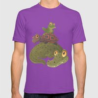 Swamp Squad Mens Fitted Tee Ultraviolet SMALL