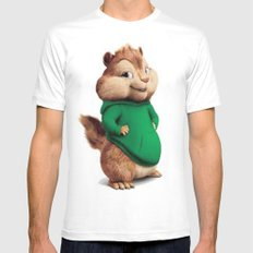Theodore The Cutes Chipm… Mens Fitted Tee White SMALL