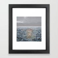 Swimming Under The Rain Framed Art Print